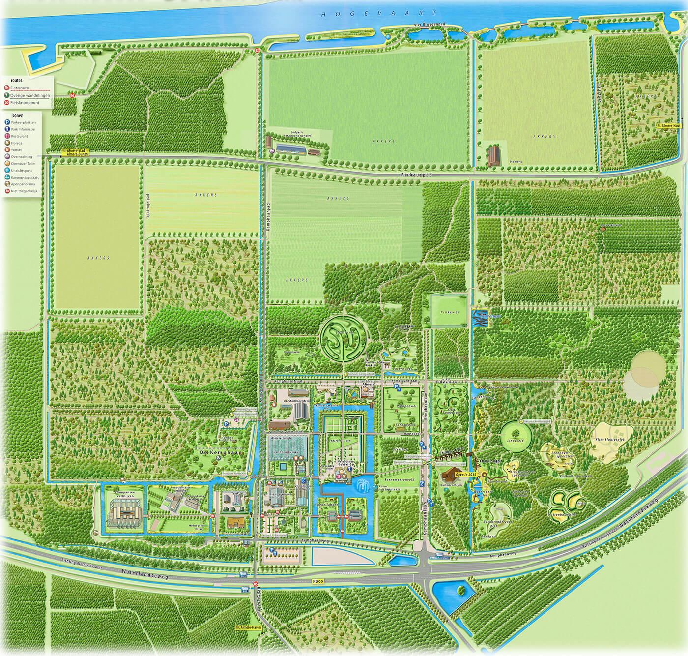Kemphaan plattegrond